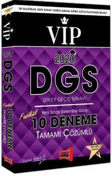 Yargı Yayınları 2020 DGS VIP Yeni Sınav Sistemine Göre Tamamı Çözümlü 10 Fasikül Deneme