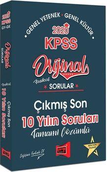 Yargı Yayınları 2020 KPSS Genel Yetenek Genel Kültür Orijinal Sorular Fasikül Tamamı Çözümlü Çıkmış Son 10 Yılın Sorular