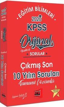 Yargı Yayınları 2020 KPSS Eğitim Bilimleri Orijinal Sorular Fasikül Tamamı Çözümlü Çıkmış Son 10 Yılın Soruları