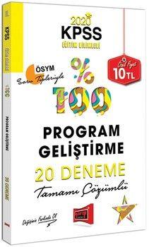 Yargı Yayınları 2020 KPSS Eğitim Bilimleri Program Geliştirme Tamamı Çözümlü 20 Deneme