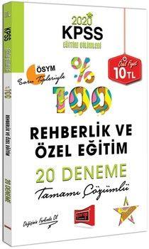 Yargı Yayınları 2020 KPSS Eğitim Bilimleri Rehberlik ve Özel Eğitim Tamamı Çözümlü 20 Deneme