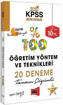 Yargı Yayınları 2020 KPSS Eğitim Bilimleri Öğretim Yöntem ve Teknikleri Tamamı Çözümlü 20 Deneme