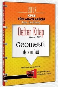 Yargı Yayınları 2017 KPSS Genel Yetenek Tüm Adaylar İçin Defter Kitap Geometri Ders Notları