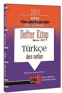 Yargı Yayınları 2017 KPSS Genel Kültür Tüm Adaylar İçin Defter Kitap Türkçe Ders Notları