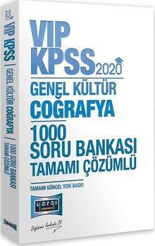 Yargı Yayınları 2020 KPSS VIP Coğrafya Tamamı Çözümlü 1000 Soru Bankası