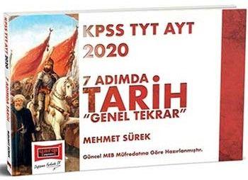 Yargı Yayınları 2020 KPSS TYT AYT 7 Adımda Tarih Genel Tekrar