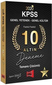 Yargı Yayınları 2020 KPSS Genel Yetenek Genel Kültür Tamamı Çözümlü 10 Altın Fasikül Deneme
