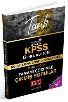 Yargı Yayınları 2020 KPSS Tarih Konularına Göre Düzenlenmiş Tamamı Çözümlü Çıkmış Sorular