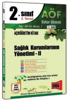 Yargı Yayınları 2. Sınıf 4. Yarıyıl Sağlık Kurumlarının Yönetimi 2 4165