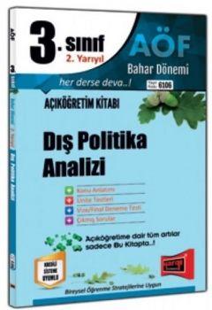 Yargı Yayınları 3. Sınıf 6. Yarıyıl Dış Politika Analizi 6106