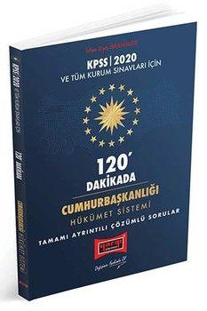 Yargı Yayınları 2020 KPSS ve Tüm Kurum Sınavları İçin 120 Dakikada Cumhurbaşkanlığı Hükümet Sistemi