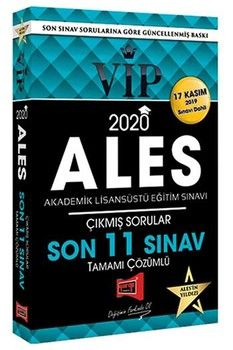 Yargı Yayınları 2020 ALES VIP Tamamı Çözümlü Son 11 Sınav Çıkmış Sorular 17 Kasım Dahil