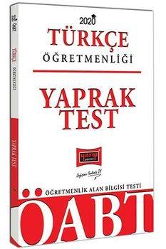 Yargı Yayınları 2020 ÖABT Türkçe Öğretmenliği Yaprak Test