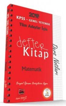 Yargı Yayınları 2018 KPSS Tüm Adaylar İçin Defter Kitap Matematik Ders Notları