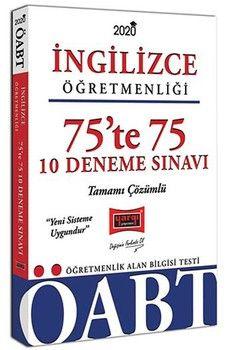 Yargı Yayınları 2020 ÖABT İngilizce Öğretmenliği 75te 75 Tamamı Çözümlü 10 Deneme Sınavı