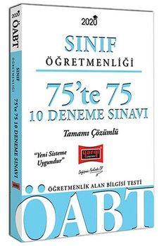 Yargı Yayınları 2020 ÖABT Sınıf Öğretmenliği 75te 75 Tamamı Çözümlü 10 Deneme Sınavı
