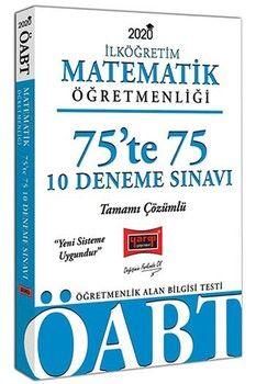Yargı Yayınları 2020 ÖABT İlköğretim Matematik Öğretmenliği 75te 75 Tamamı Çözümlü 10 Deneme Sınavı