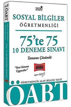 Yargı Yayınları 2020 ÖABT Sosyal Bilgiler Öğretmenliği 75'te 75 Tamamı Çözümlü 10 Deneme Sınavı
