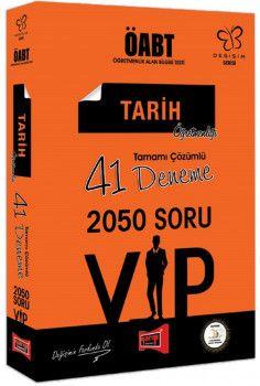 Yargı Yayınları ÖABT Değişim Serisi VIP Tarih Öğretmenliği Tamamı Çözümlü 41 Deneme