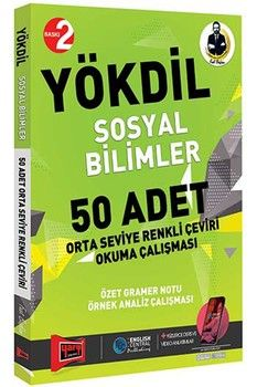 Yargı Yayınları YÖKDİL Sosyal Bilimler 50 Adet Orta Seviye Renkli Çeviri Okuma Çalışması