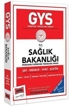 Yargı Yayınları 2020 GYS T.C.Sağlık Bakanlığı Şef Memur VHKİ Şoför Soru Cevap Kitabı