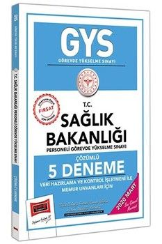 Yargı Yayınları GYS T.C. Sağlık Bakanlığı Veri Hazırlama ve Kontrol İşletmeni ile Memur Unvanları İçin Çözümlü 5 Deneme