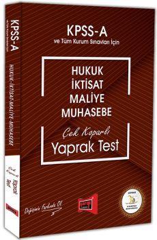 Yargı Yayınları KPSS A Grubu Hukuk İktisat Maliye Muhasebe Çek Koparlı Yaprak Test