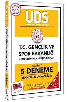 Yargı Yayınları 2020 UDS T.C. Gençlik ve Spor Bakanlığı Teknisyen Unvanı İçin Çözümlü 5 Deneme