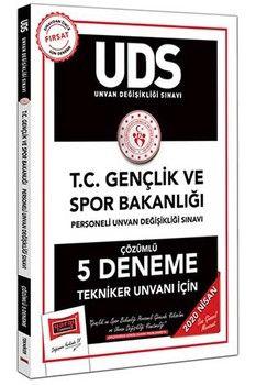 Yargı Yayınları 2020 UDS T.C. Gençlik ve Spor Bakanlığı Tekniker Unvanı İçin Çözümlü 5 Deneme