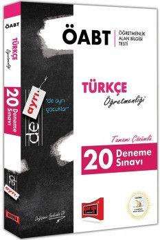 Yargı Yayınları ÖABT DE AYRI Türkçe Öğretmenliği Tamamı Çözümlü 20 Deneme Sınavı