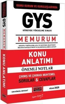 Yargı Yayınları GYS Kamu Kurum ve Kuruluşlarında MEMURUM Konu Anlatımı