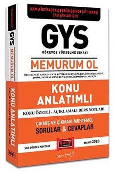 Yargı Yayınları GYS Kamu İdari Teşebbüslerinde KİTlerde Çalışanlar İçin MEMURUM OL Konu Anlatımlı