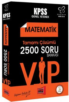 Yargı Yayınları 2018 KPSS VIP Matematik Tamamı Çözümlü 2500 Soru Bankası Değişim Serisi