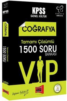 Yargı Yayınları 2018 KPSS VIP Coğrafya Tamamı Çözümlü 1500 Soru Bankası Değişim Serisi