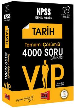 Yargı Yayınları 2018 KPSS VIP Tarih Tamamı Çözümlü 4000 Soru Bankası Değişim Serisi