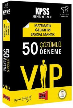 Yargı Yayınları 2018 KPSS VIP Matematik Geometri Sayısal Mantık 50 Çözümlü Deneme Değişim Serisi