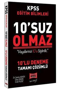 Yargı Yayınları 2020 KPSS Eğitim Bilimleri 10 suz Olmaz Tamamı Çözümlü 10 Deneme