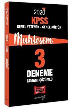 Yargı Yayınları 2020 KPSS Genel Yetenek Genel Kültür Muhteşem Tamamı Çözümlü 3 Deneme