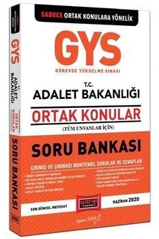 Yargı Yayınları 2020 GYS T.C. Adalet Bakanlığı Ortak Konular Soru Bankası