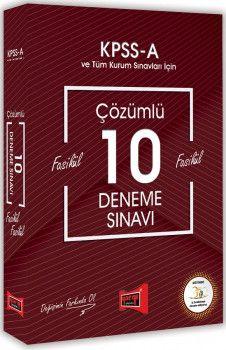 Yargı Yayınları KPSS A Grubu Fasikül Fasikül Çözümlü 10 Deneme Sınavı