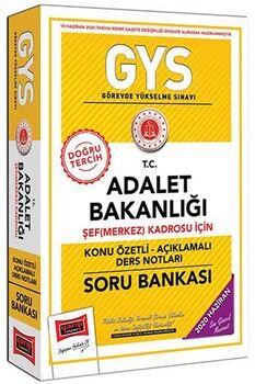 Yargı Yayınları GYS T.C. Adalet Bakanlığı Şef Merkez Kadrosu İçin Konu Özetli Soru Bankası