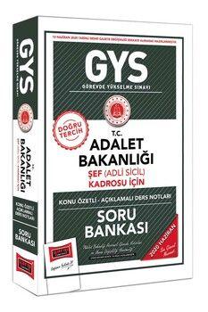 Yargı Yayınları GYS T.C. Adalet Bakanlığı Şef Adli Sicil Kadrosu İçin Konu Özetli Soru Bankası