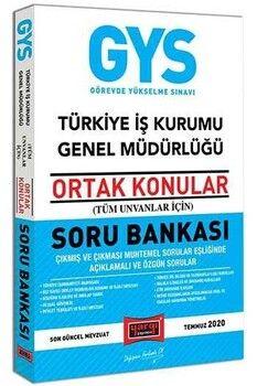 Yargı Yayınları GYS Türkiye İş Kurumu Genel Müdürlüğü Ortak Konular Soru Bankası