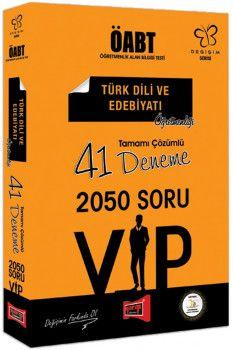 Yargı Yayınları ÖABT Değişim Serisi VIP Türk Dili ve Edebiyatı Öğretmenliği Tamamı Çözümlü 41 Deneme