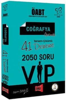 Yargı Yayınları ÖABT Değişim Serisi VIP Coğrafya Öğretmenliği Tamamı Çözümlü 41 Deneme