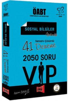 Yargı Yayınları ÖABT Değişim Serisi VIP Sosyal Bilgiler Öğretmenliği Tamamı Çözümlü 41 Deneme