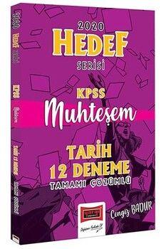 Yargı Yayınları 2020 KPSS Muhteşem Tarih Tamamı Çözümlü 12 Deneme Hedef Serisi