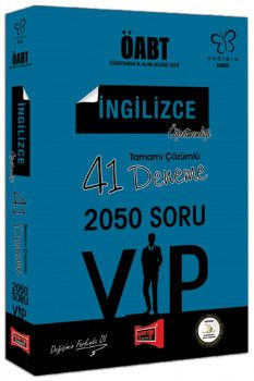 Yargı Yayınları ÖABT Değişim Serisi VIP İngilizce Öğretmenliği Tamamı Çözümlü 41 Deneme