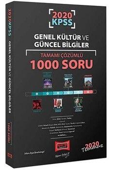 Yargı Yayınları 2020 KPSS Genel Kültür ve Güncel Bilgiler Tamamı Çözümlü 1000 Soru