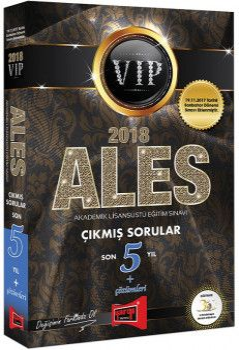 Yargı Yayınları 2018 ALES VIP Sonbahar Dahil Son 5 Yıl Çıkmış Sorular Çözümleri